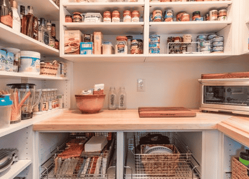 image on page for  / perceived to contain Pantry, Shelf, Den, Dog House, Kennel, Bookcase, Furniture, Box, Crate, Indoors, Room, Appliance, Electrical Device, Microwave, Oven, Shop
